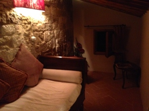 Our upstairs loft at Locanda San Francesco. (Montepulciano, Italy)
