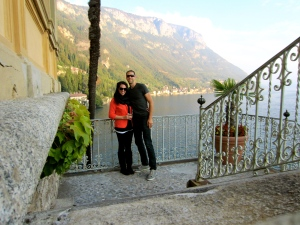 At Hotel Villa Cipressi in Varenna.