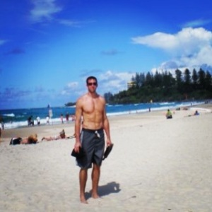 My handsome hubby on the beach in Coolangatta.