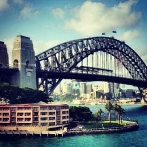 Our visit to Australia: Sydney Harbour Bridge.