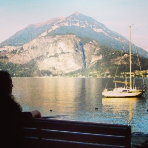 Relaxing on a bench in Varenna.